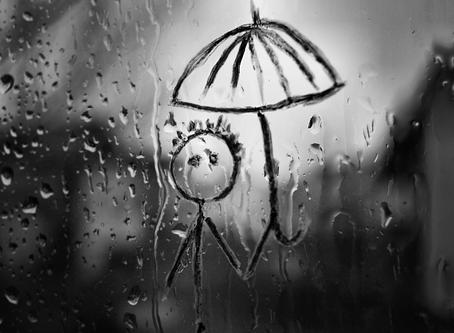 """When it's grey outside, I feel grey like the weather"""
