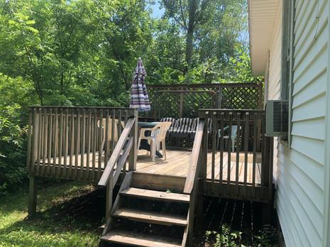 Back Deck of Elms off Kitchen