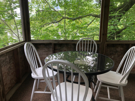Eating Area in Screened Porch