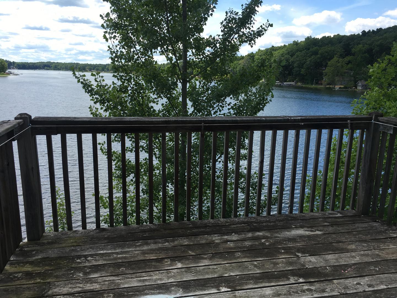 West Deck overlooking Long Lake