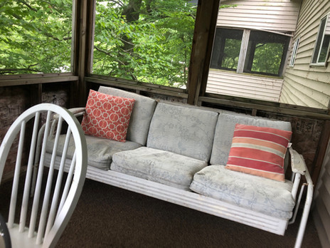 Screened Porch, view of Oaks Porch in Background