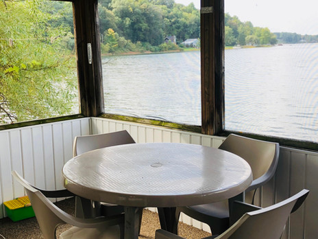 Screened Porch and Waterside Dining