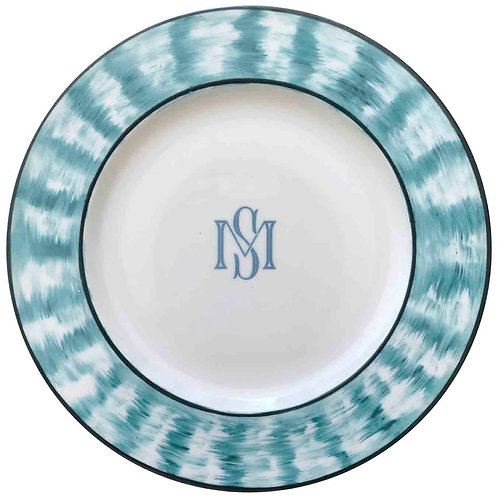 Vajilla de porcelana pintada a mano con tus iniciales. Puedes personalizar tus platos. Es una vajilla única y exclusiva