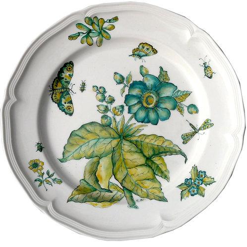 Plato de porcelana Limoges pintada a mano