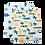 Thumbnail: Surf + Sea Turtles Luxury Muslin Swaddle Blanket Set