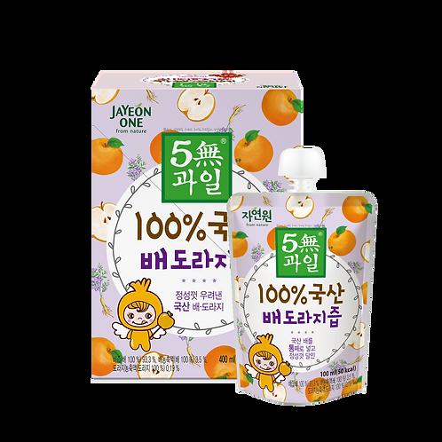 5-Free 100% 有機桔梗梨汁 (1盒共4包)