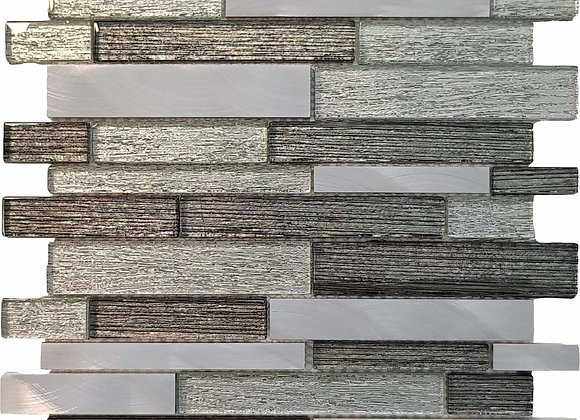 Silver Stratos Glass Mosaic