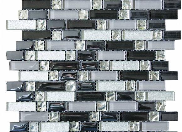 Silver & Black Random Mosaic