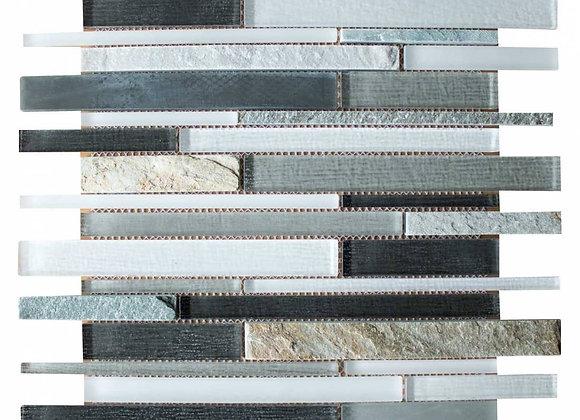 Grey Mercury Glass Mosaic