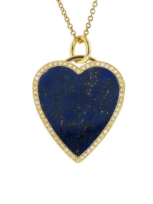 Lapis Heart Pendant/chain extra