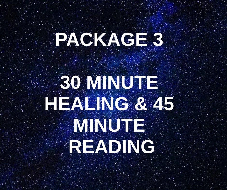 Package 3 -  Healing & 45 Min Reading