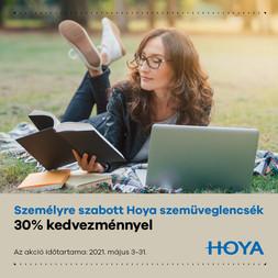 HOYA 30% szemüveglencse kedvezmény!