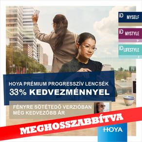 33% kedvezmény Hoya iD Multifokális lencsékre