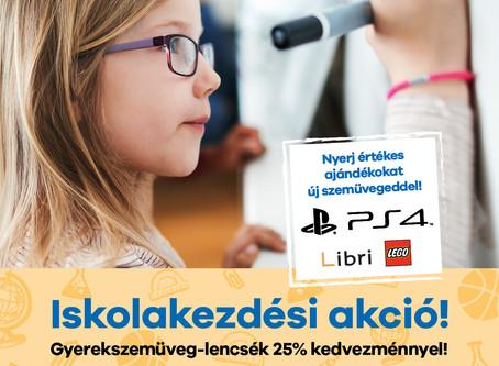 Gyerek szemüveg 25% kedvezmény + nyerhet akár egy PS4 játékkonzolt