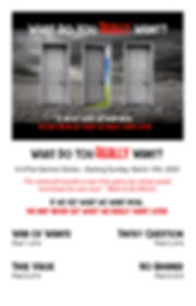 What Do You Really Want - Schedule Flyer