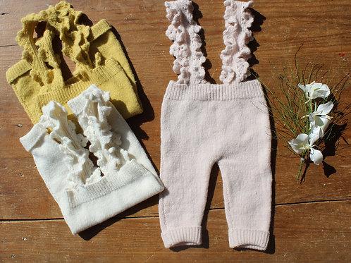 KERALA / Pantalón con tiradores de crochet