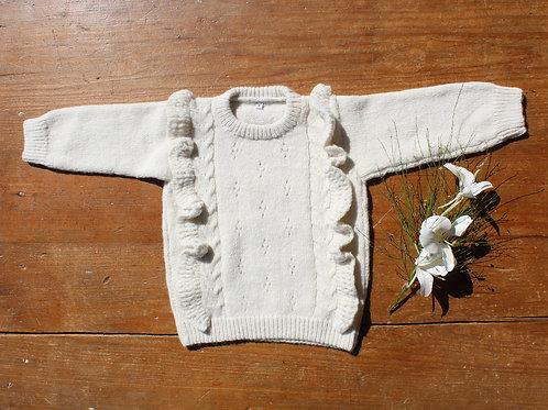 ALMADA / Sweater calado con volados