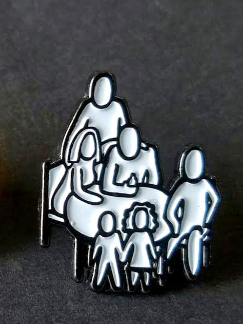 "Table Series Logo 1"" Lapel Pins (Blk & Wht)"