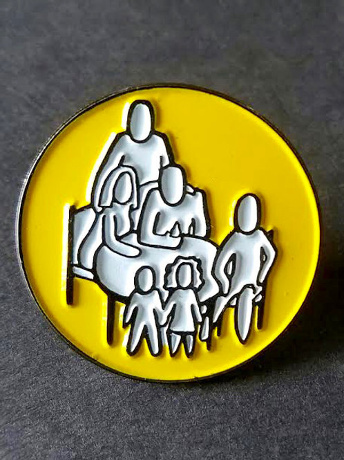 "Table Series Logo 1"" Lapel Pins (Yellow)"