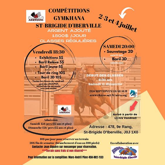 Compétition à St-Brigide