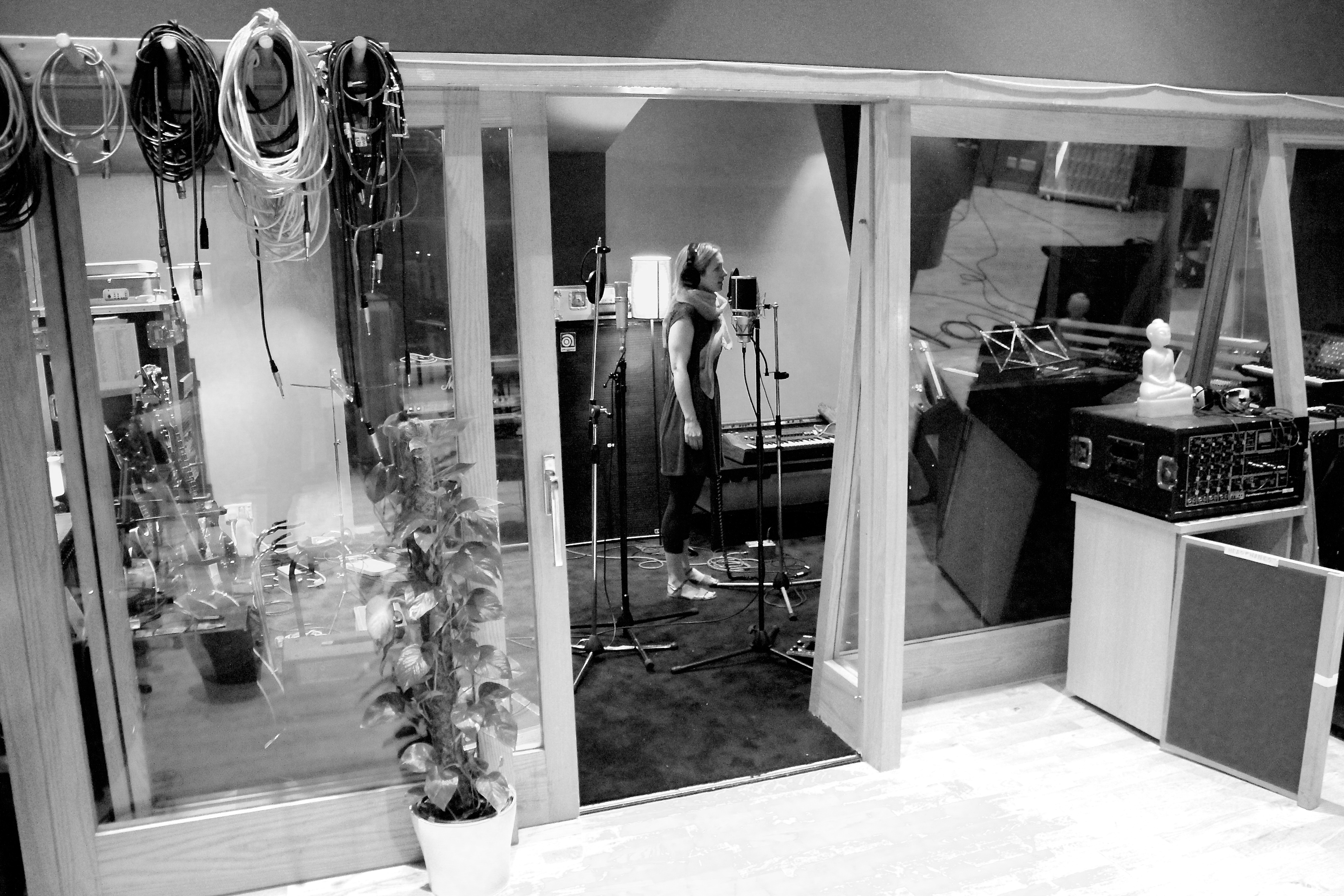 Recording Cara, London, 2014