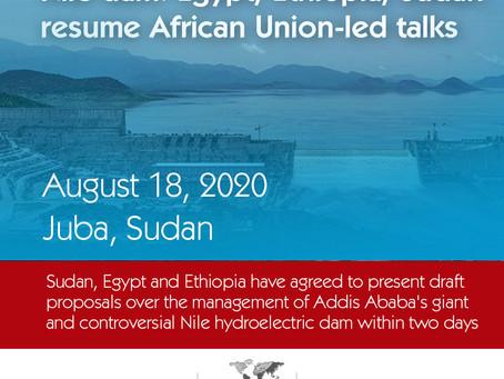 Egypt, Ethiopia, Sudan resume African Union-led talks