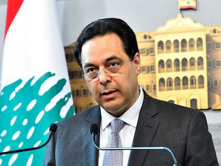 Lebanon's PM Hassan Diab announces the resignation of his government.
