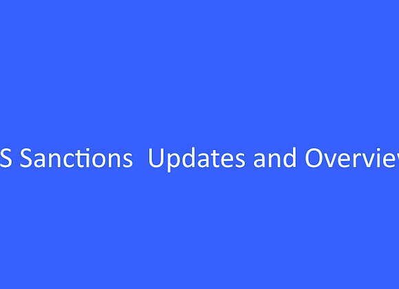 WEBINAR - US Sanctions Updates and Overview