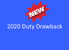 2020 Duty Drawback Recorded 1/23/20