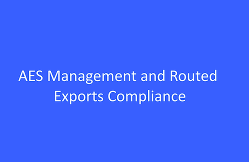 AES Management and Routed Exports Compliance