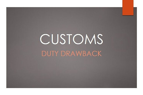 2021 Duty Drawback Revenue Recovery & Management