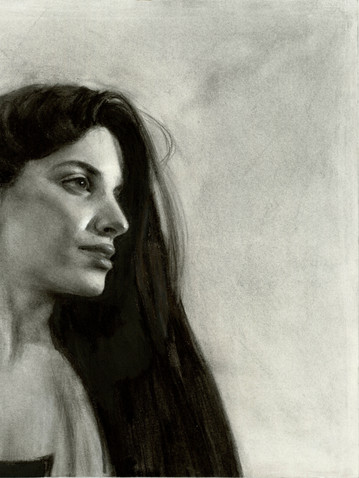 Charcoal on paper 50x60 cm