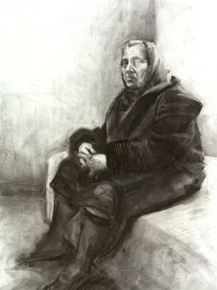 Charcoal on paper 1,47x1,00 m