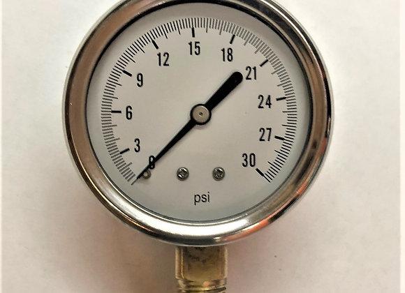 0-30 PSI Pressure Gauge (Part # HH-2984)