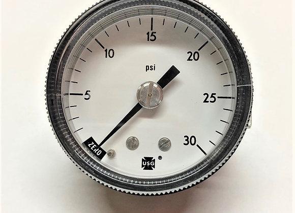 0-30 PSI Pressure Gauge (Part # 041-1002-9)