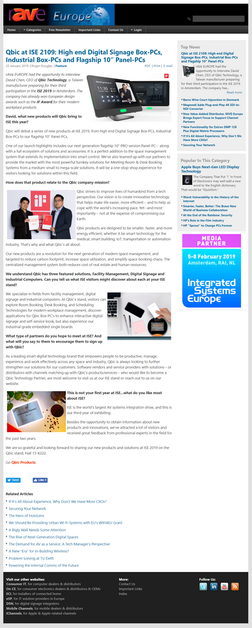 Rave Europe Newsletter - Qbic ISE 2019