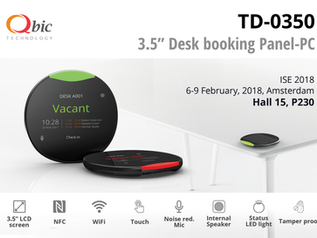 Latest Desk booking product unveiled ! The TD-0350