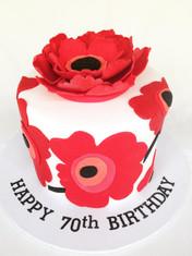 Marimekko-inspired Birthday cake