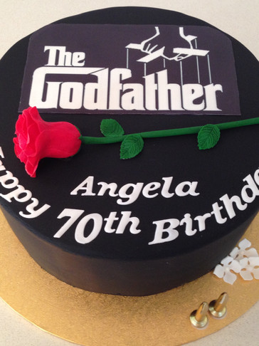 Hazelnut 'Godfather' themed cake with Handmade fondant Rose