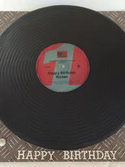Full-sized 'Mastercuts' Record/LP cake