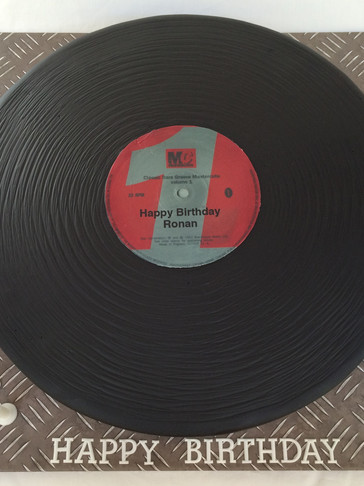 Full-sized 'Mastercuts' Record/LP cake