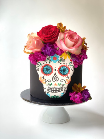 Dia de Muertos (Day of the Dead) Cake by Roseberry Cake Creations