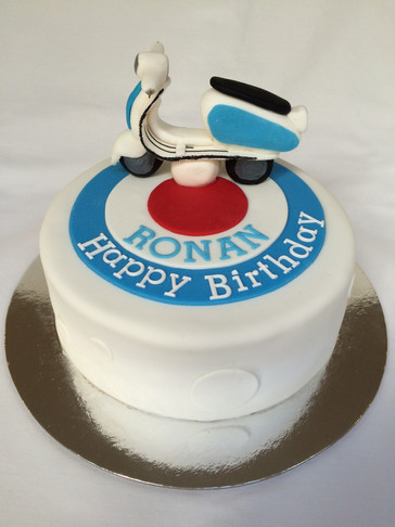 Quadropenia-themed with Handmade fondant Lambretta Scooter