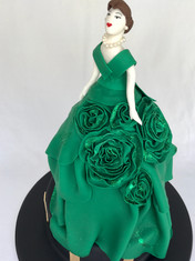 Winner 'Highly Commended' 2017 Royal Easter Show- decorated cake with handmade fondant bodice & Rosettes