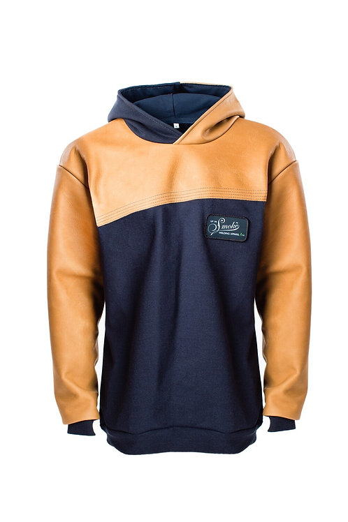 FR Thorax Fleece Pullover - Navy/Caramel