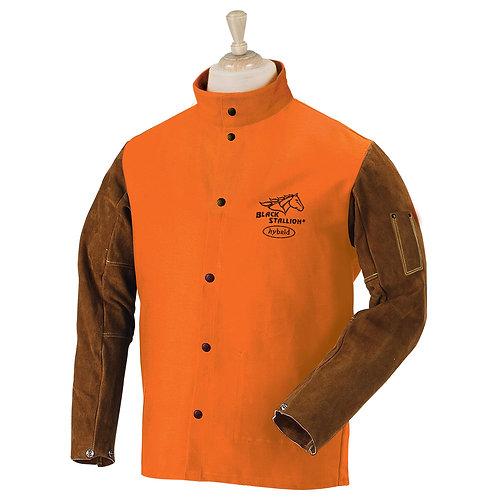 FR Cotton & Cowhide Hybrid Welding Jacket - Orange