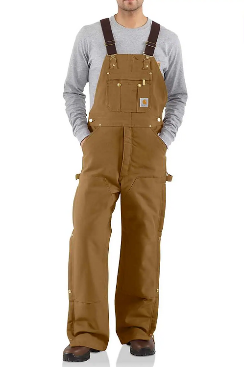 Non FR Quilt Lined Zip to Thigh Bib Overalls