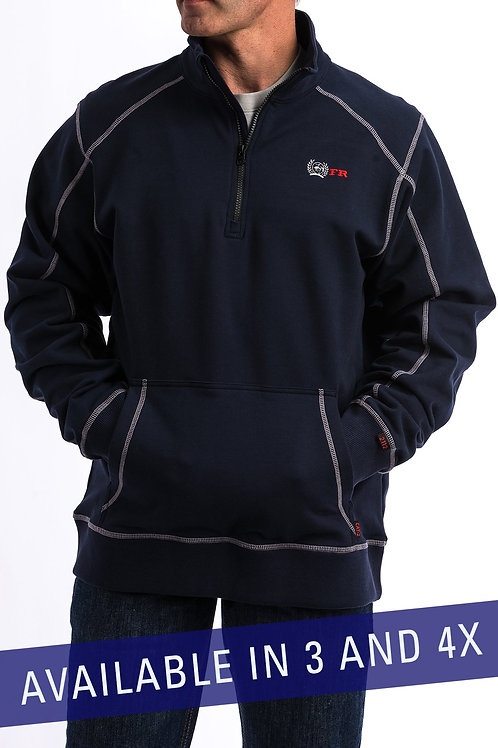 Men's FR 1/4 zip Pullover - Navy