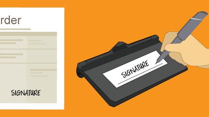 Capture digital signatures during Checkout