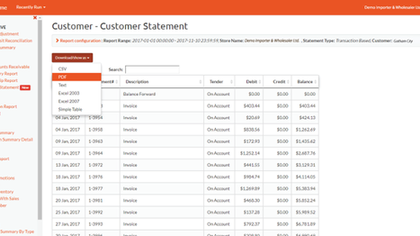 NEW Online Report: Customer Statements with Payment Status
